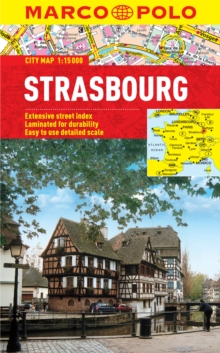 Strasbourg Marco Polo Laminated City Map, Sheet map, folded Book