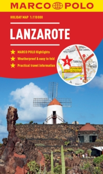 Lanzarote Marco Polo Holiday Map, Sheet map, folded Book