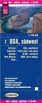 USA 7 Southwest, Sheet map, folded Book