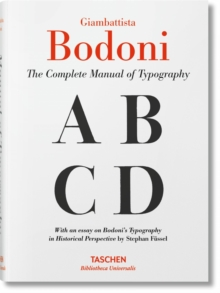Bodoni : Manual of Typography, Hardback Book