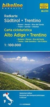 Sudtirol Trentino Cycle Map : BIKERK.IT.ST01, Sheet map, folded Book