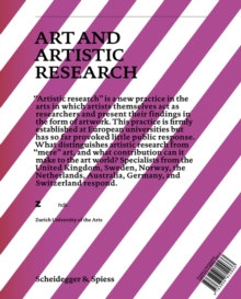 Art and Artistic Research : Music, Visual Art, Design, Literature, Dance, Hardback Book