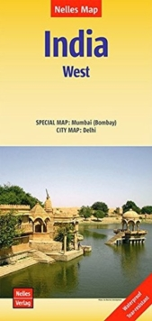 India West / Delhi-Mumbai-Bomba, Sheet map, folded Book