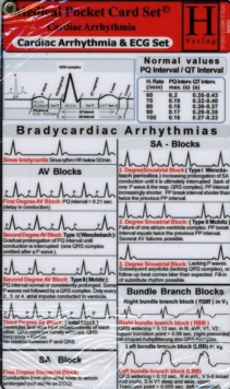Cardiac Arrhythmia and ECG - Medical Pocket Card Set, Cards Book