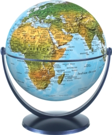 Physical World Globe 15cm : Swivel and Tilt World Physical Globe, Globe Book