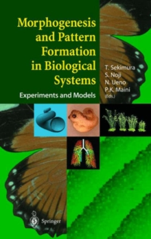 Morphogenesis and Pattern Formation in Biological Systems : Experiments and Models, Hardback Book