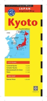 Kyoto Travel Map, Sheet map, folded Book