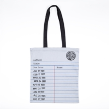 LIBRARY CARD TOTE BAG GREY,  Book