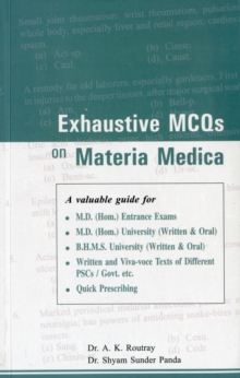 Exhaustive MCQs on Materia Medica, Paperback / softback Book