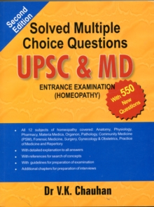Solved Multiple Choice Questions UPSC & M.D. : Entrance Examination (Homeopathy), Paperback Book