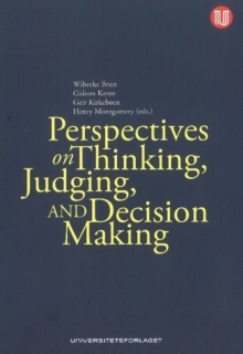 Perspectives on Thinking, Judging & Decision-Making, Paperback Book
