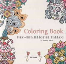 Coloring Book of Neo-Traditional Tattoo, Paperback Book