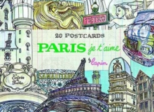 Paris, Je T'Aime : 20 Postcards Book, Paperback / softback Book