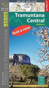 Mallorca -Tramuntana Central GR11 Map and Hiking Guide, Sheet map, folded Book