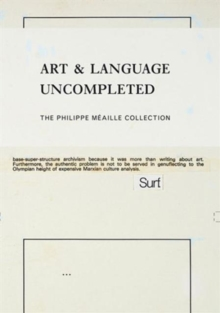 Art & Language Uncompleted, Paperback / softback Book