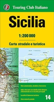 Sicily : TCI.R14, Sheet map, folded Book
