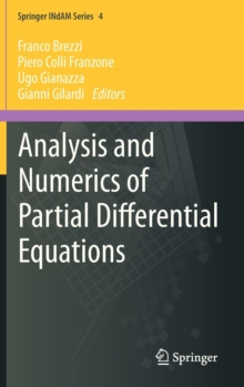 Analysis and Numerics of Partial Differential Equations, Hardback Book