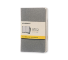 Moleskine Pebble Grey Squared Cahier Pocket Journal (3 Set), Diary Book