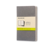 Moleskine Pebble Grey Plain Cahier Pocket Journal (3 Set), Diary Book