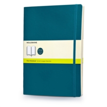 Moleskine Soft Extra Large Underwater Blue Plain Notebook, Notebook / blank book Book