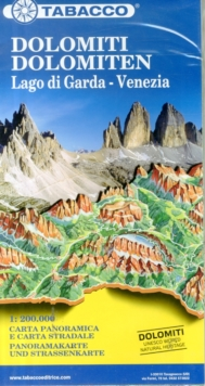 Dolomites / Lake Garda / Venice Road and Panoramic Map, Sheet map, folded Book