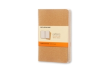 Moleskine Ruled Cahier - Kraft Cover (3 Set), Multiple copy pack Book