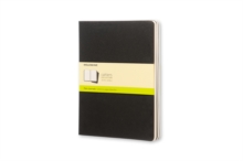 Moleskine Plain Cahier Xl - Black Cover (3 Set), Multiple copy pack Book