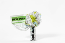 New York Crumpled City Map, Sheet map Book