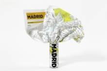 Madrid Crumpled City Map, Sheet map Book