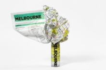 Melbourne Crumpled City Map, Sheet map Book