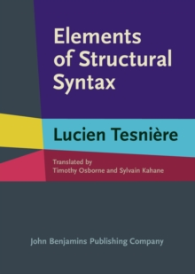 Elements of Structural Syntax, Hardback Book