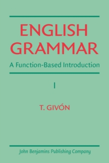 English Grammar : A function-based introduction. Volume I, PDF eBook