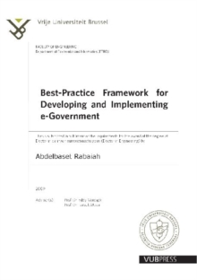 Best-Practice Framework for Developing and Implementing E-Government, Paperback / softback Book