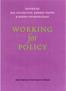 Working for Policy, Paperback / softback Book