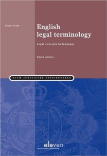 English Legal Terminology, Paperback Book