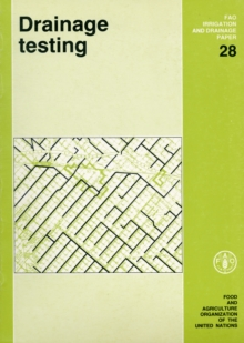 Drainage Testing (FAO Irrigation and Drainage Paper), Paperback / softback Book