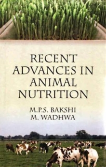 Recent Advances in Animal Nutrition, Hardback Book