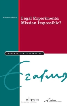 Legal Experiments : Mission Impossible?, Paperback Book