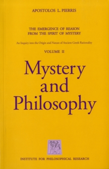 Mystery and Philosophy, Paperback / softback Book