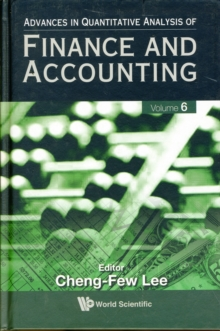 Advances In Quantitative Analysis Of Finance And Accounting (Vol. 6), Hardback Book