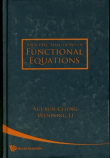 Analytic Solutions Of Functional Equations, Hardback Book