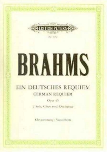 GERMAN REQUIEM OP 45 VOCAL SCORE,  Book