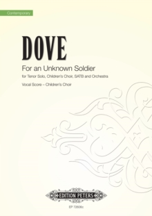 FOR AN UNKNOWN SOLDIER CHILDRENS VOCAL S, Paperback Book
